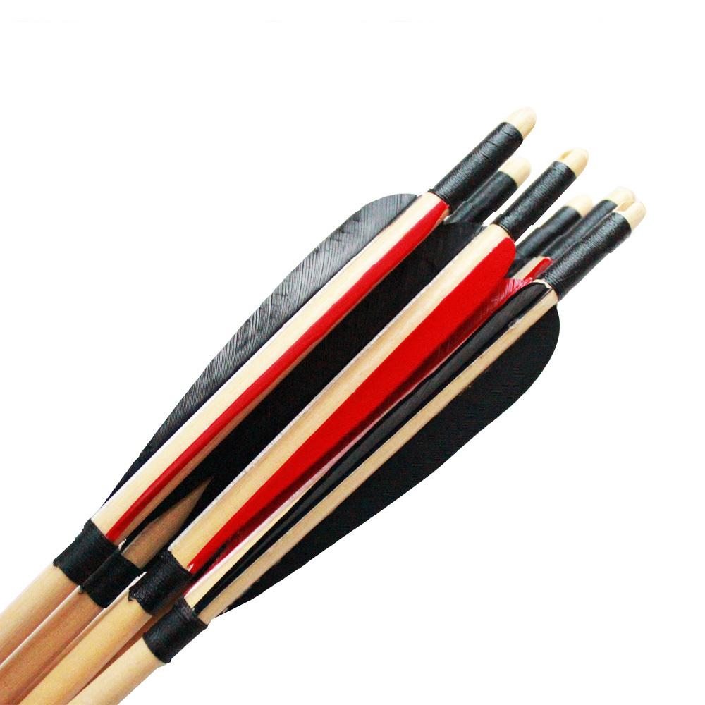 Arrow traditional chinese archery arrow turkey feather archery arrow