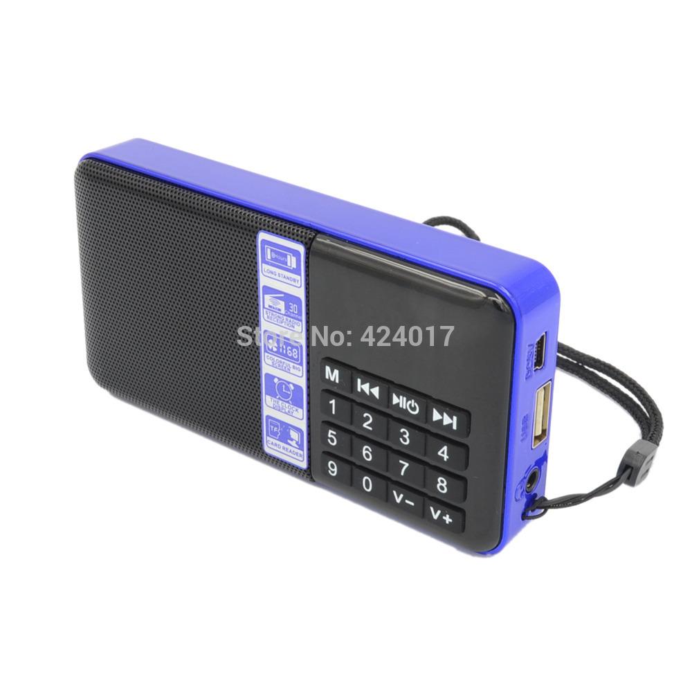 lcd digital portable mini fm radio speaker usb micro sd tf. Black Bedroom Furniture Sets. Home Design Ideas