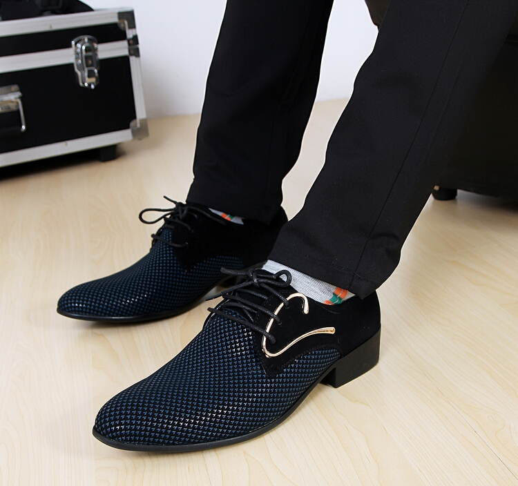 2014 latest fashion pointed men's shoes Wedding shoes Korean stylist shoes Suit shoes NX159